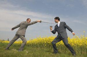 Business swordplay