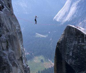 High Lining Over Yosemite Valley